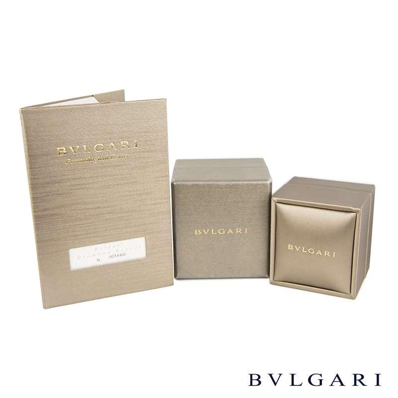Bvlgari Round Brilliant Cut Diamond Ring in Platinum 1.11ct F/VVS1 B&P
